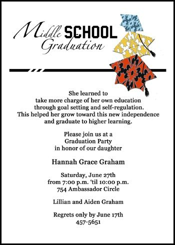 41 best 8th grade middle school junior high graduation cards images save with these colorful caps middle school graduation announcements and invitations at graduationcardsshop stopboris Choice Image