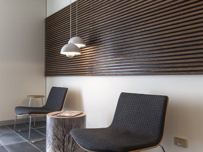 Concept Office Interiors used timber edges and sleek and simple joinery to make a relaxing space for the Renu Medispa's customers.