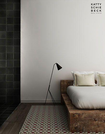 Tiles meet wood.