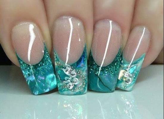 aquarium nails #aqariumnails