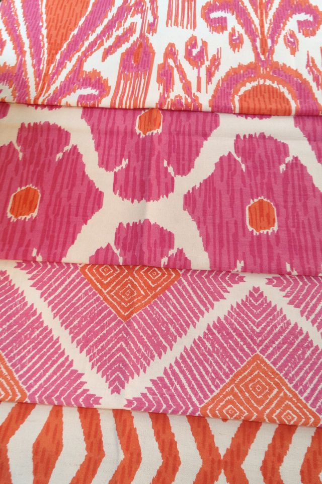 4 New fabrics in The John Robshaw Collection