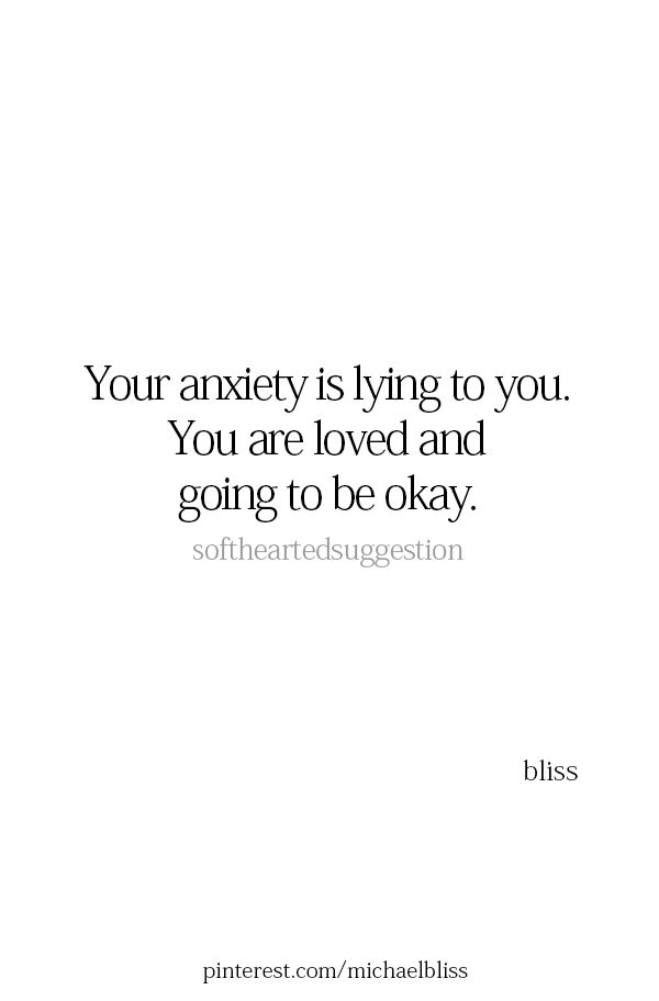 Anxiety sometimes happens not because we doubt but we fear losing something so good