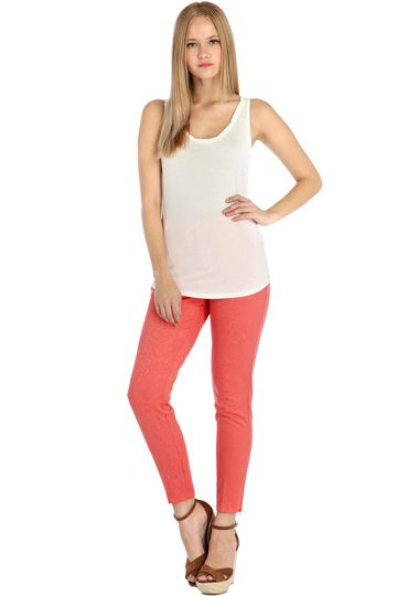 Coral ankle length trousers from Oasis
