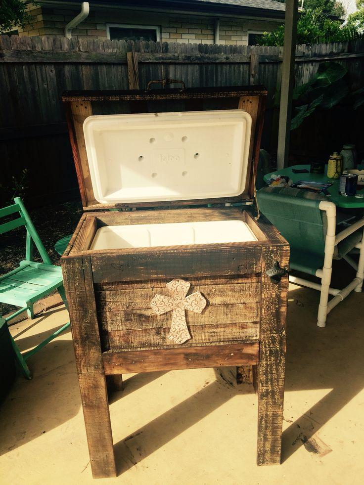 Wood Patio Cooler Plans: 1000+ Ideas About Pallet Cooler On Pinterest