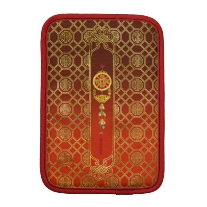 Chinese Good Luck Symbol Tasssel - Feng shui Sleeve For iPad Mini - good gifts special unique customize style