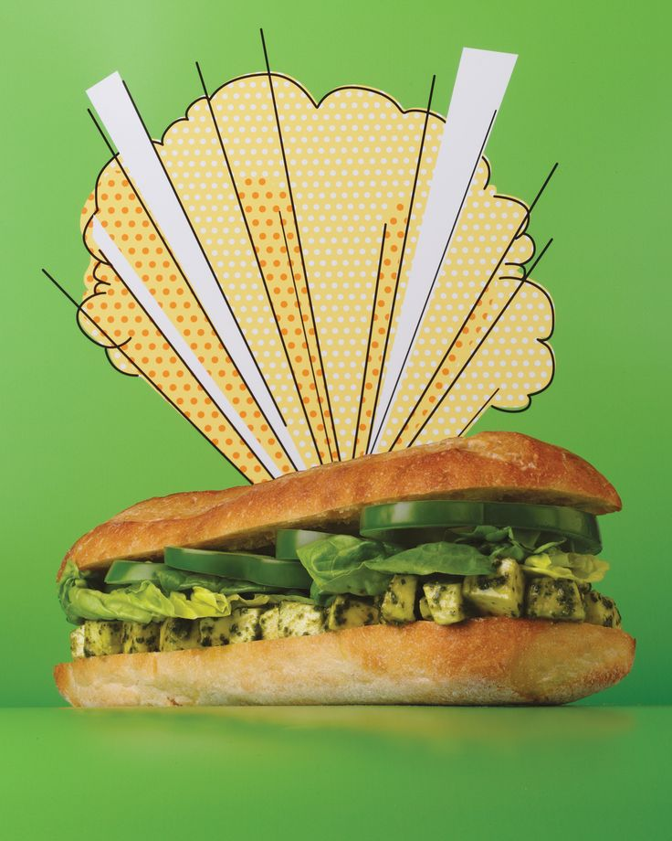 The Mighty Mozz Sandwich Martha Stewart Living You Can Make Your Own Pesto For