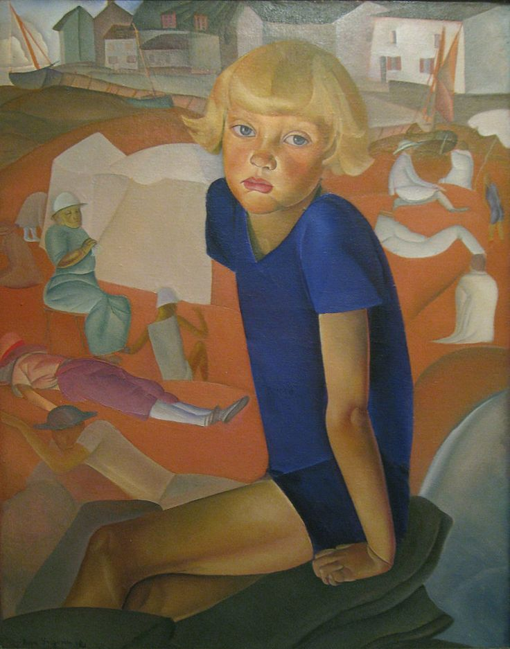 Boris Grigoriev (1886–1939) - Portrait of the Artist's Son by Boris Grigoriev, 1920 - Worcester Art Museum.