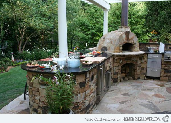 40 best outdoor kitchens images on pinterest - Outdoor kitchen pizza oven design ...