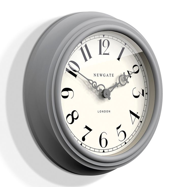 Discover the Newgate Clocks The Dormitory Wall Clock - Posh Grey at Amara