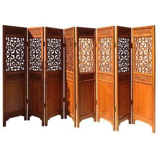 $5,800 8-Panel  Antique Chinese Room Divider