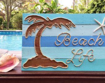 Anclaje a mano con cuerda playa plataforma arte por BeachByDesignCo