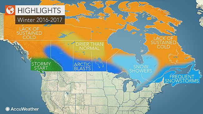 Canada winter forecast: Snowy season to yield best ski conditions in years; Arctic blasts to freeze the Prairies