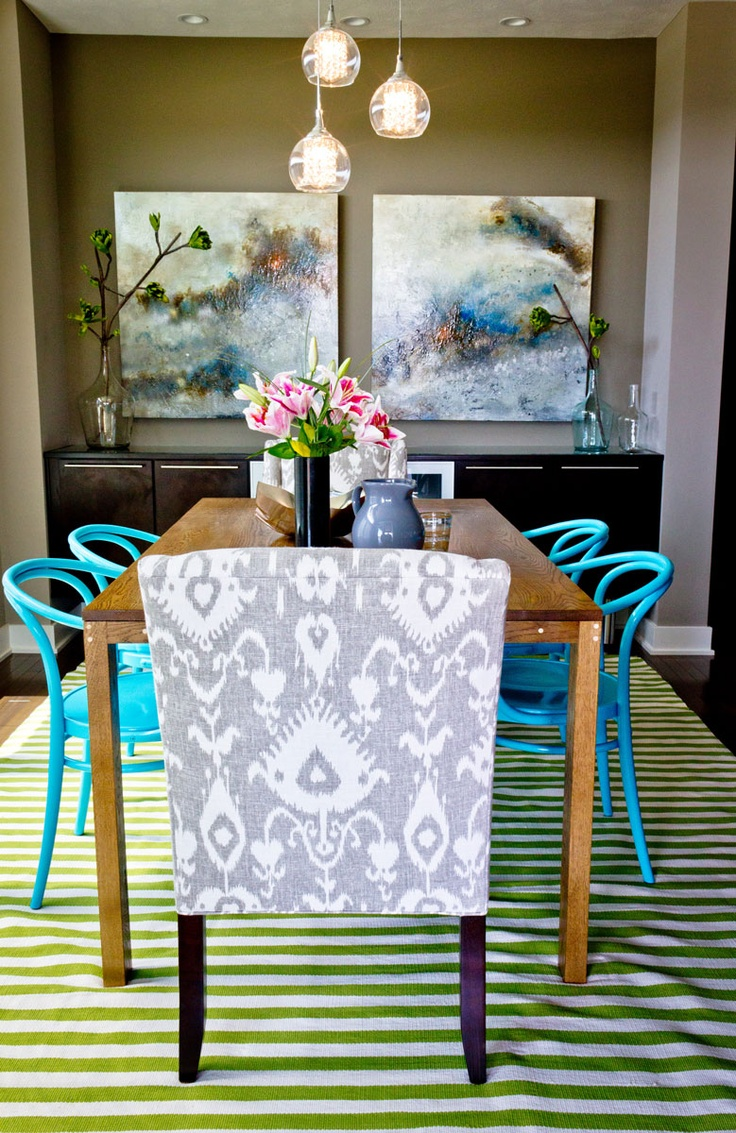 Turquoise ikat chair - This Captain S Chair Really Stands Out In A Grey Ikat