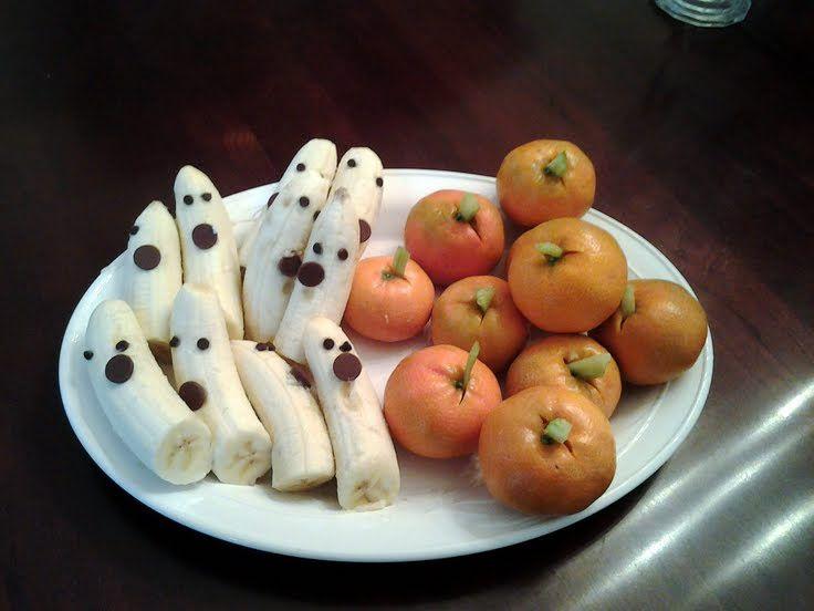 "Halloween Banana ""Ghosts and Tangerine ""Pumpkins""!"