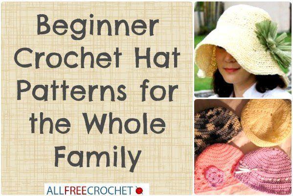 28 Beginner Crochet Hat Patterns for the Whole Family | AllFreeCrochet.com