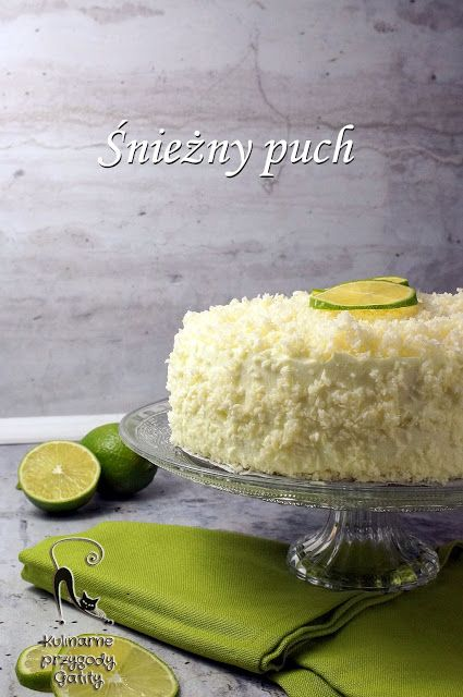 Kulinarne przygody Gatity: Ciasto śnieżny puch z limonką