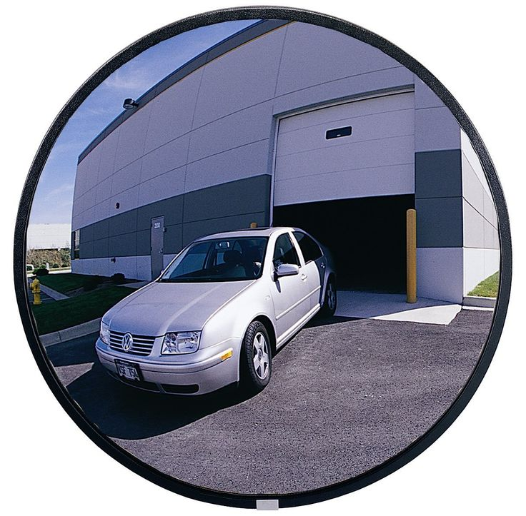"See All PLXO18 Circular Acrylic Heavy Duty Outdoor Convex Security Mirror, 18"" Diameter (Pack of 1)"