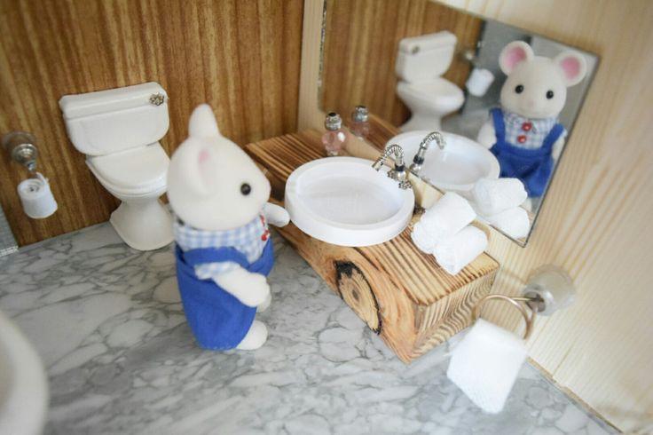 #sylvanian #diy #dollhouse #miniatures #sylvanianfamilies #mousehouse #bathroom #handmade