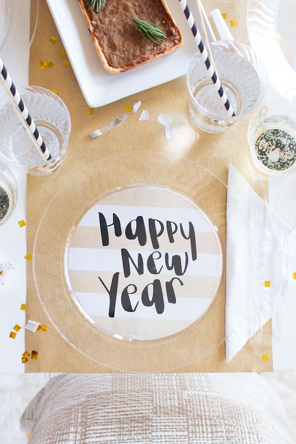 free evite photo invitations%0A DIY New Years Plates  u     Cups by Evite featuring Chinet Cut Crystal