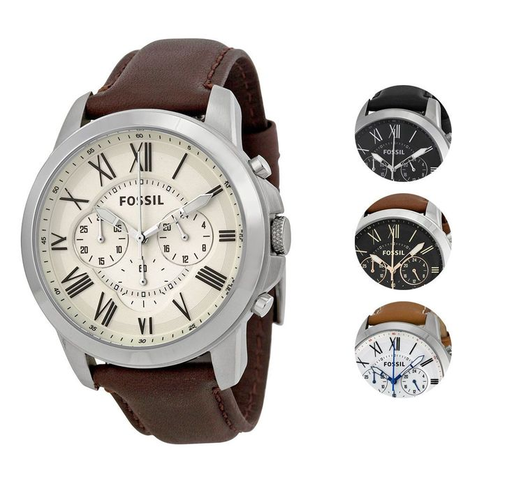 Purchases Shipping outside the USA: Import duties, taxes, and charges are not included in the item price or shipping cost. These charges are the buyer... #watch #multiple #colors #mens #leather #grant #chronograph #fossil
