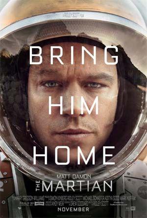 New films: The Martian (Matt Damon, Jessica Chastain, Kristen Wiig), The Walk, Legend, Freeheld, He Named Me Malala, Hell & Back, Shanghai, Garm Wars: The Last Druid