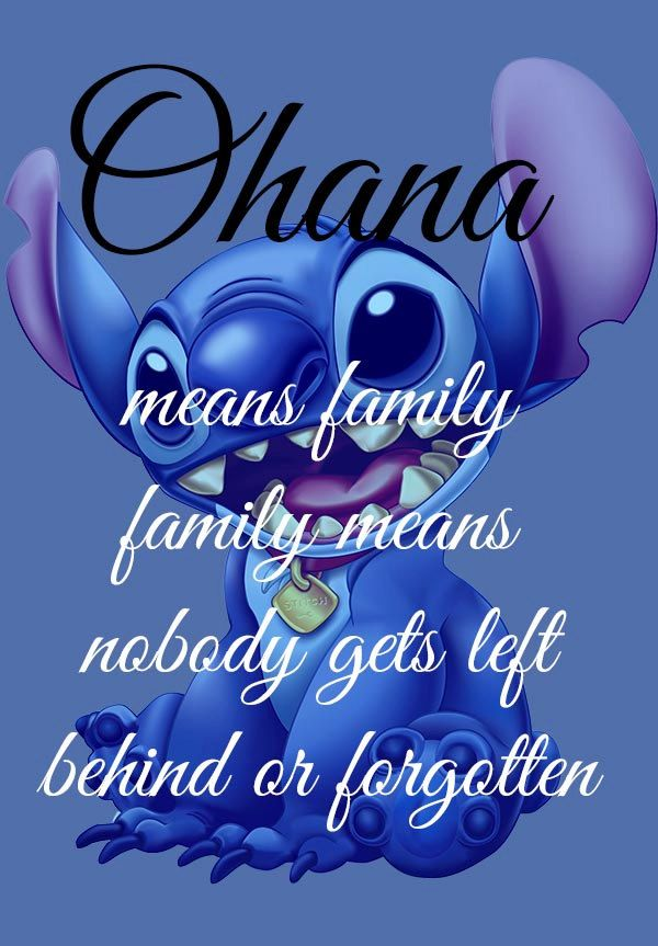Ohana Means Family Lelo And Stitch Disney Art  by geeksleeksheek, $18.00