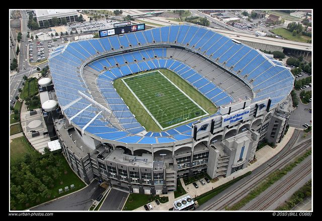Bank of America Stadium - Home of the Carolina Panthers. Pack won!