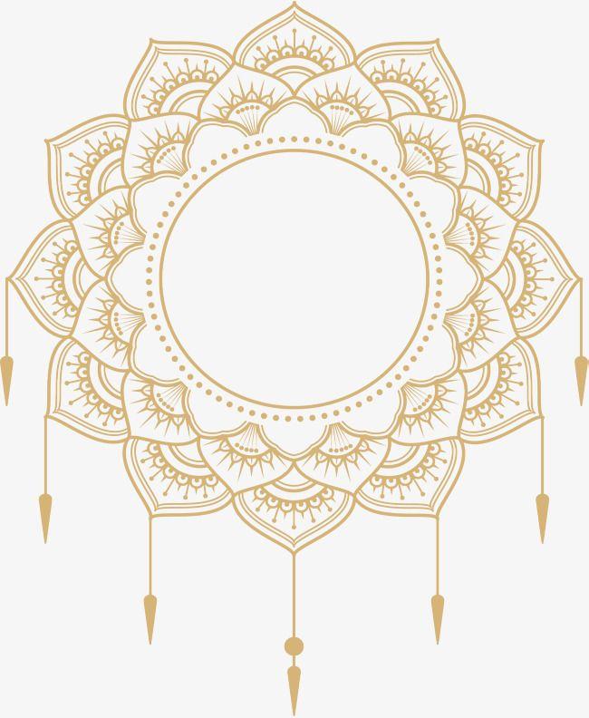 Gold Mandala Title Vector And Png Gold Mandala Mandala Islamic Wallpaper Hd