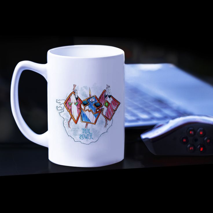 Kubek  Troll Power. Grafika inspirowana grą World of Warcraft. #wow #worldofwarcraft #luxplanet #mug #kubek