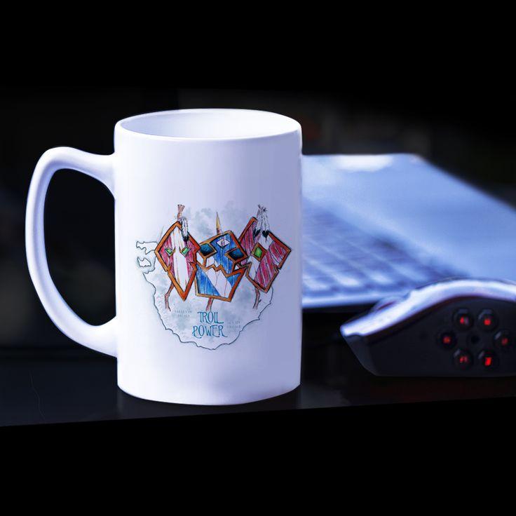Kubek  Troll Power. Grafika inspirowana grą World of Warcraft. #wow #worldofwarcraft #luxplanet #mug #kubek