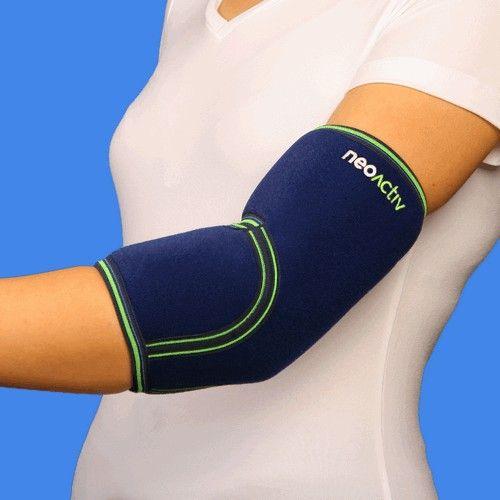 """CD50A NeoActiv Codera indicada para el cuidado y prevención de lesiones musculares, bursitis, alivio del dolor del codo reumático, inflamación de la fascia muscular, epicondilitis (""""codo de tenista""""), epitrocleitis (""""codo de golfista""""), en general, dolores de codo. Patologías y lesiones que requieran calor terapéutico antiálgico y compresión. #salud #deporte #ortopedia"""