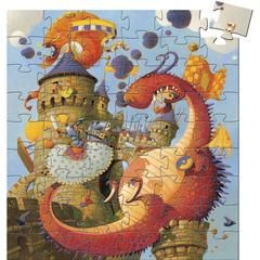 £10.00 DJECO Vaillant et le Dragon / Valiant and the Dragon, Jigsaw Puzzle