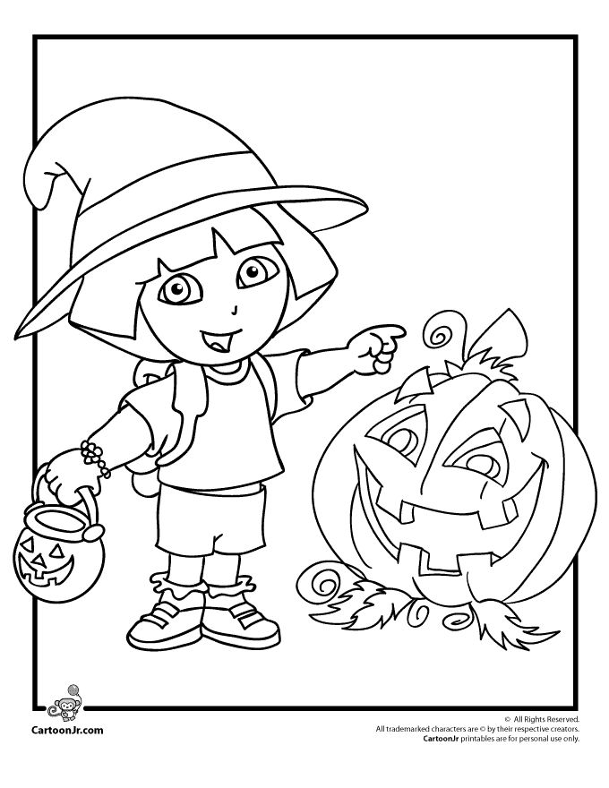 halloweencoloringpages explorer coloring pages dora halloween coloring page