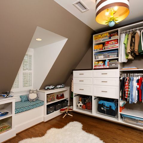 Sloped Ceiling Storage U0026 Closets Design Ideas, Pictures, Remodel And Decor