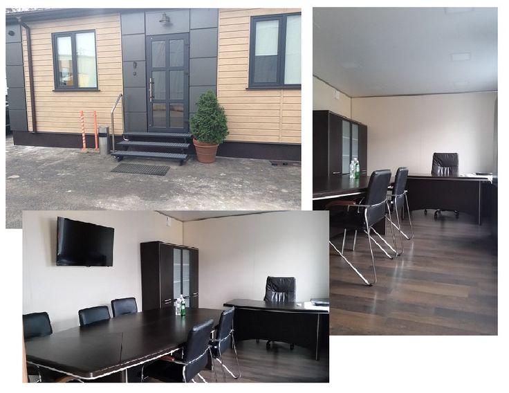 Мобильный офис Flamand: внутренние стены облицованы ламинированным ДСП