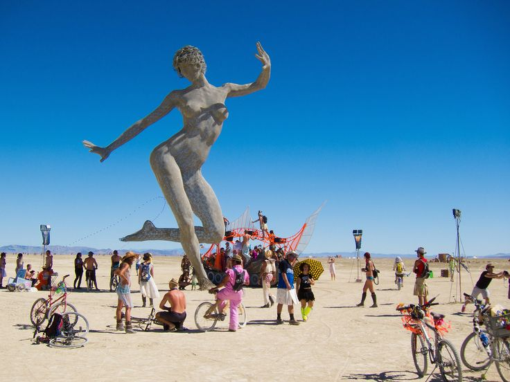 23 of the most incredible works of Burning Man art ever made Jim Urquhart/Reuters  This year's Burning Man  the wild annual festival in Nevadas Black Rock Desert  will start on August 27.  One of the main spectacles at Burning Man are the outlandish elaborate and zany sculptures and structures that attendees create there.  Many are intentionally destroyed at the end of the festival since part of Burning Mans mission is to leave no trace but some have moved to other locations around the…