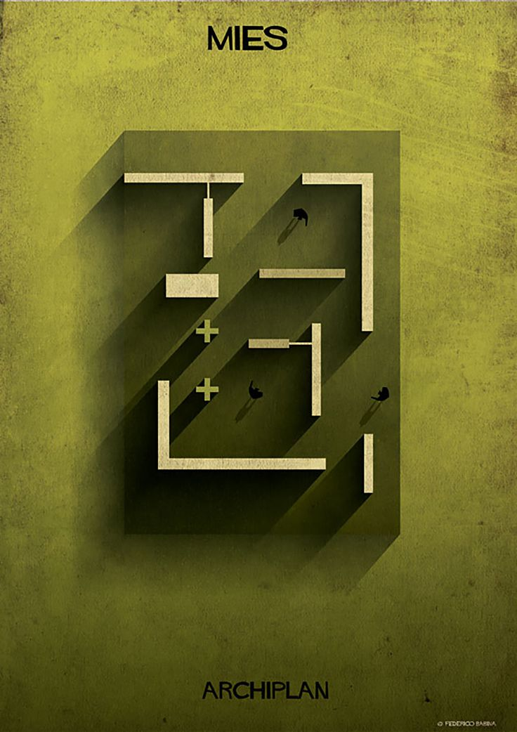 federico babina dissects famous floor plans as architectural labyrinths (Brilliant) Mies van der Rohe