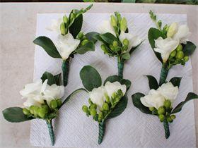 White Freesia Boutonnieres