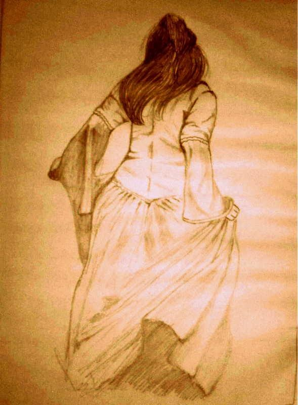 dream girl  - Sketching by Akhil S Krishnan in scrachings !!! at touchtalent