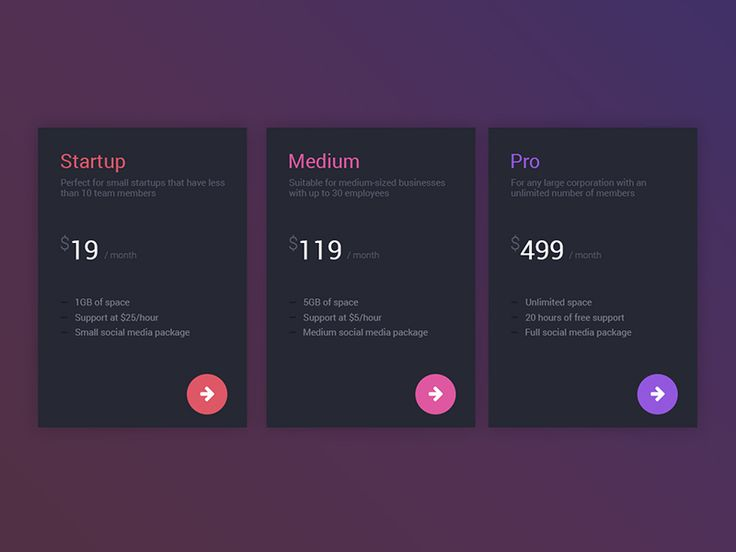 Best Ui  Pricing Images On   Interface Design User
