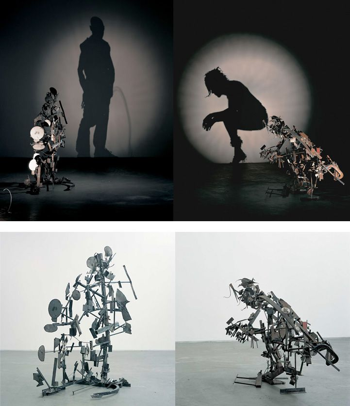 Mind-Boggling Shadow Art from Trash Sculptures by British artists, Tim Noble and Sue Webster.