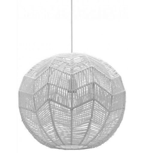 Large Bonnie Yarn Pendant Light (E27), White