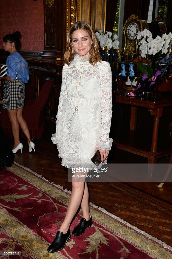 Olivia Palermo attends the dinner to celebrate the launch of Fabrizio Viti Cruise 18 Collection Back In Love Again at Hotel La Pavia on July 3, 2017 in Paris, France.