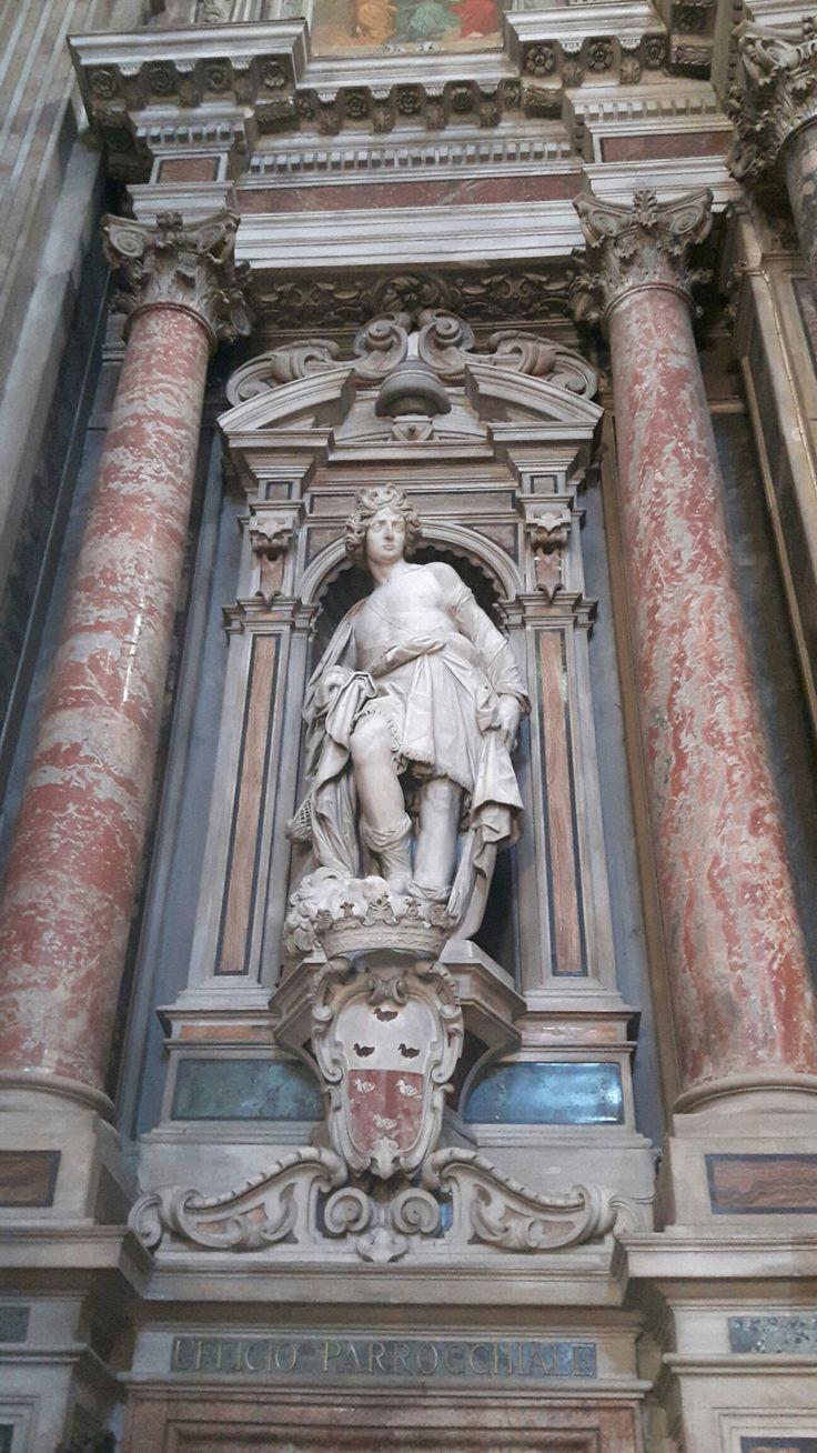 Cappella di Sant'Ignazio. Chiesa del Gesù Nuovo Napoli.  Cosimo Fanzago.  David. 1643-1654