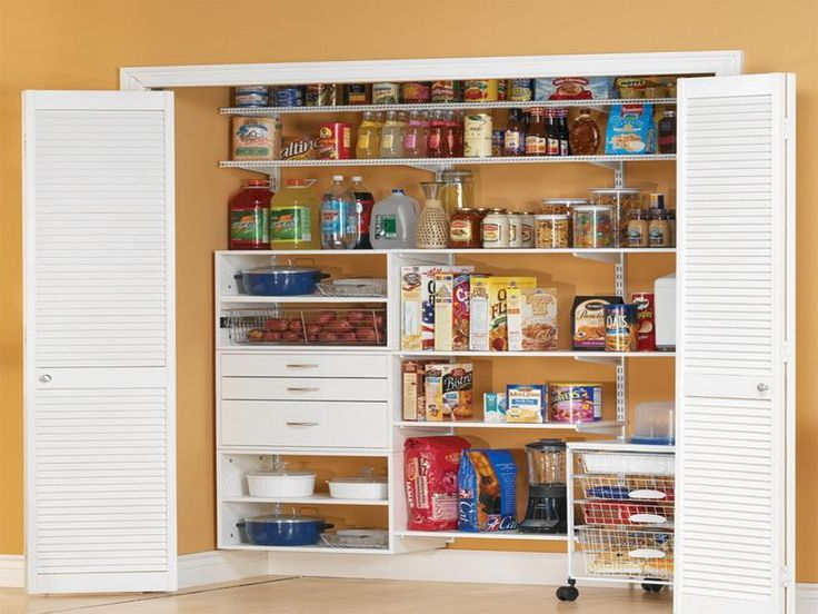 White kitchen pantry cabinet for Kitchen cabinets storage