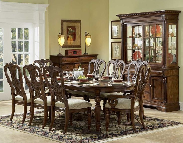 20 Mahogany Dining Room Table And Chairs