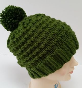 Irish Green Ski Hat  by HideyHoleHats