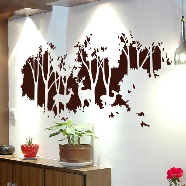 Details about  /Big Size Flower Bird Wall Stickers Decals Wallpaper Art poster Decor Baby Room
