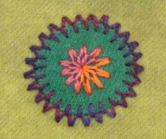 Learn hand embroidery. Watch a step-by-step demonstration of the fly stitch.
