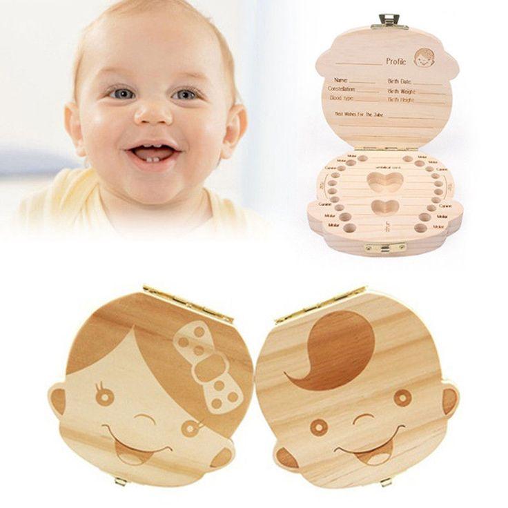 עץ אחסון קופסות ארגונית לחסוך שיניים נשירים שיני ילד תינוקת הודעות מזכרות איסוף V5234 יצירתי מתנה